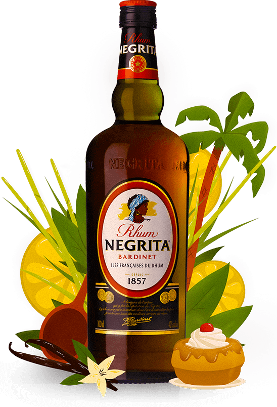 Negrita illustration bouteille