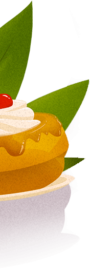 Illustration baba au rhum