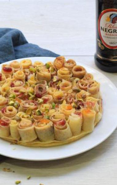 Gâteau bouquet de crêpes